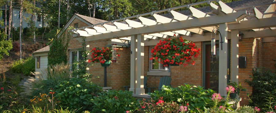 Front porch with pergola remodel
