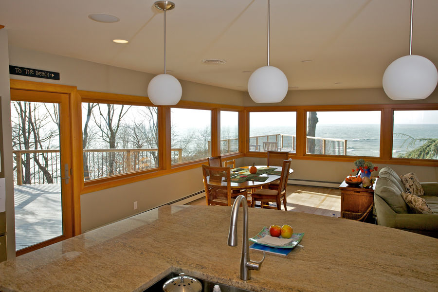 Lake Michigan open concept renovation