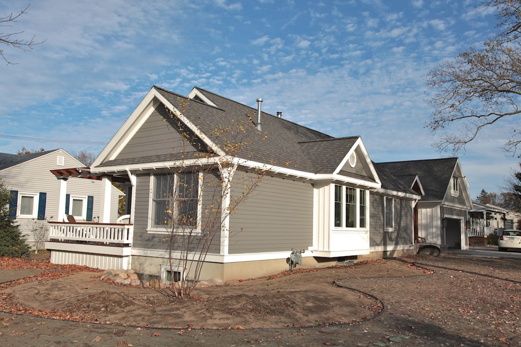 Exterior grey home remodel