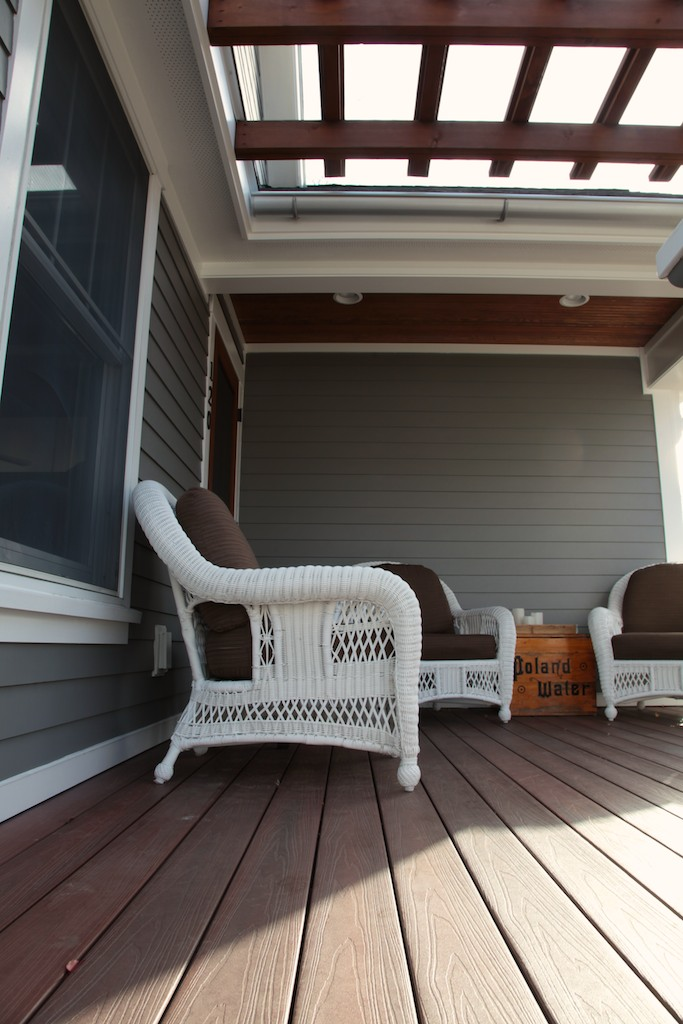 Remodeled deck with pergola