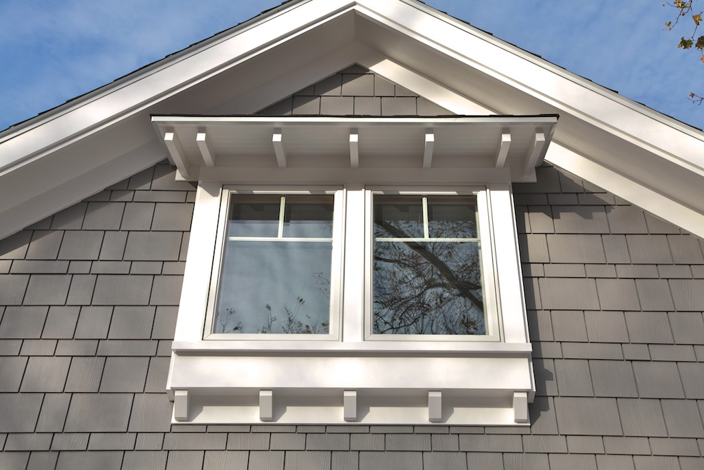 Custom exterior window header