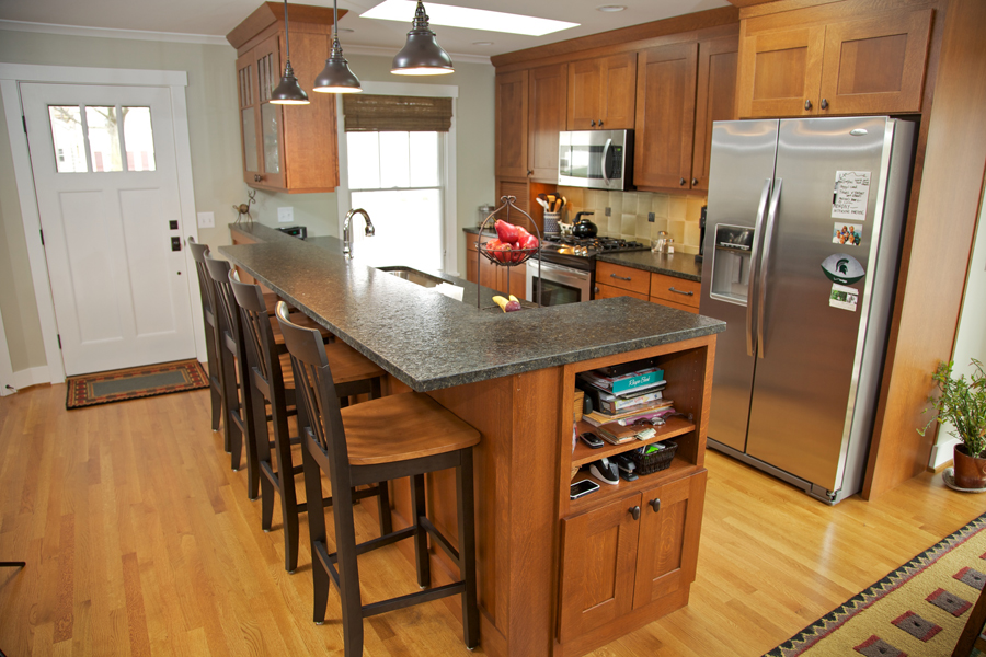 Kitchen remodel with breakfast bar