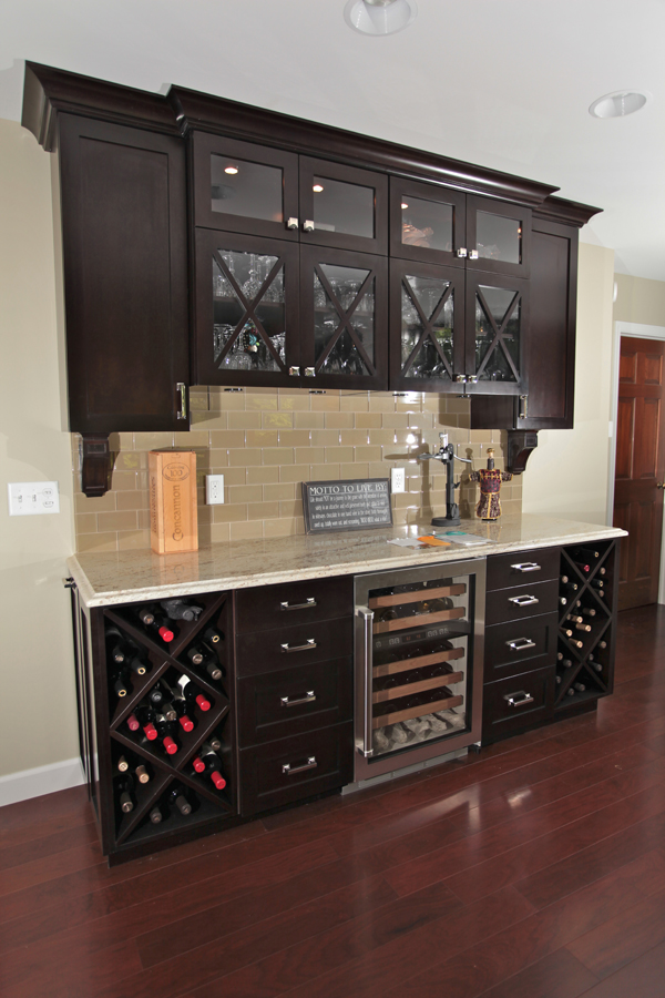 Custom wine bar remodel