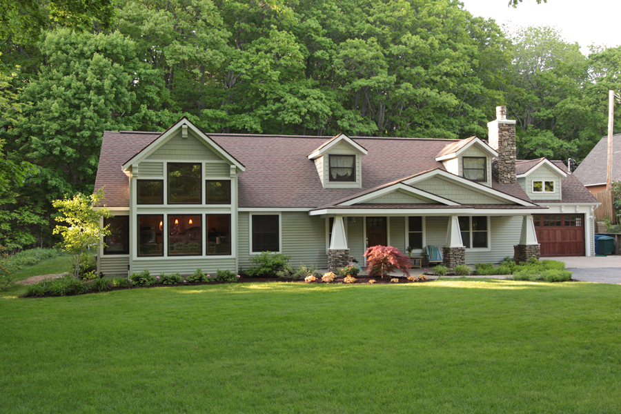 Lake Michigan Home remodel exterior