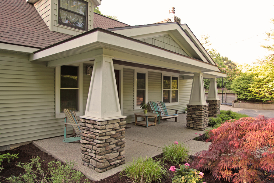 Custom porch remodel